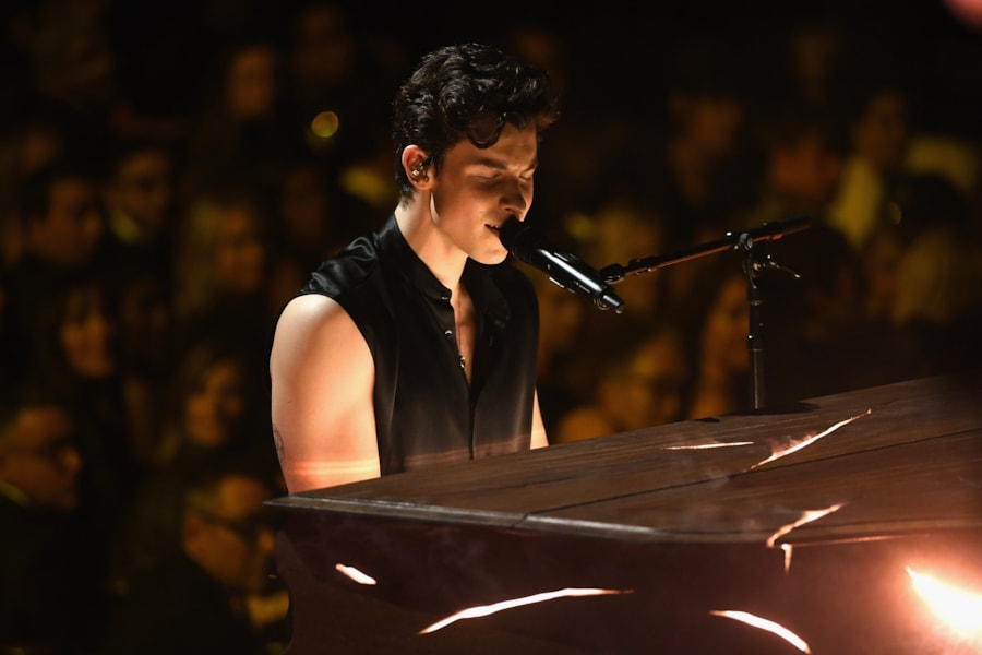 LOS ANGELES, CA - FEBRUARY 10:  Shawn Mendes performs onstage during the 61st Annual GRAMMY Awards at Staples Center on February 10, 2019 in Los Angeles, California.  (Photo by Kevin Winter/Getty Images for The Recording Academy)