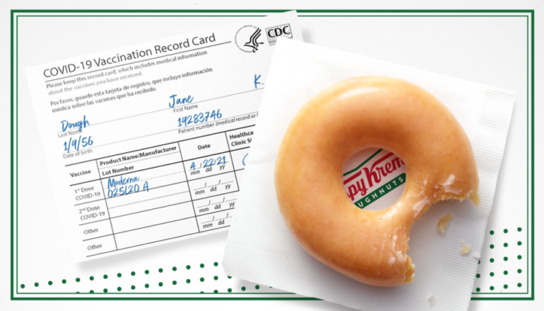 Krispy Kreme Gives Free Doughnuts For Vaccinations